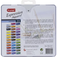 Bruynzeel Expression Watercolour Pencil Set W/Tin 24/Pkg