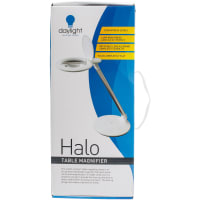 Daylight Halo Table Magnifier-White & Silver