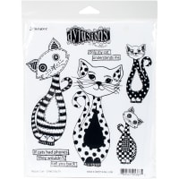 "Dyan Reaveley's Dylusions Cling Stamp Collections 8.5""X7""-Puddy Cat"