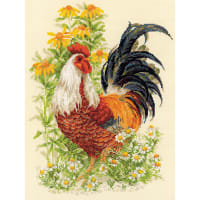 "RIOLIS Counted Cross Stitch Kit 11.75""X15.75""-Rooster (14 Count)"