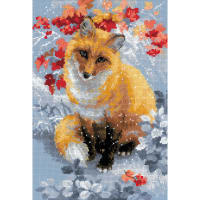 """RIOLIS Counted Cross Stitch Kit 8.25""""X11.75""""-Fox (14 Count)"""