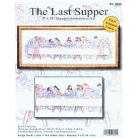 "Design Works Stamped Embroidery Kit 9""X24""-Last Supper-Stitched In Floss"