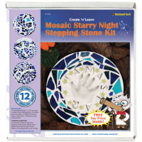 Mosaic Stepping Stone Kit-Starry Night