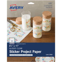 "Full-Sheet Sticker Project Paper 8.5""X11"" 7 Sheets-Clear"