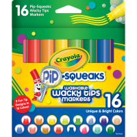 Crayola Pip-Squeaks Washable Wacky Tip Markers-Assorted Colors 16/Pkg