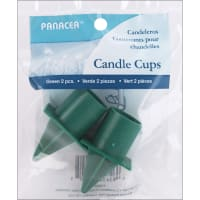 """Candle Cups 1"""" 2/Pkg-Green"""