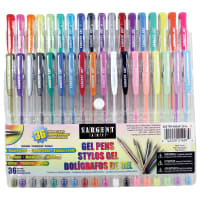 Sargent Art Gel Pen Set 36/Pkg-Assorted