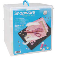 """Snap 'n Stack Craft Organizer Large Square 3 Layers-14""""X12.5""""X13"""""""
