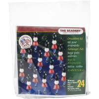 Holiday Beaded Ornament Kit-Mini Toy Soldier Makes 24