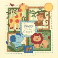 "Dimensions/Baby Hugs Counted Cross Stitch Kit 12""X12""-Savannah Birth Record (14 Count)"
