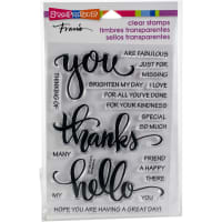 Stampendous Perfectly Clear Stamps-Big Words Thanks
