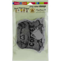 Stampendous House Mouse Cling Stamp-Coffee Break