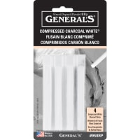 Compressed Charcoal Sticks 4/Pkg-White - 2B, 4B & 6B