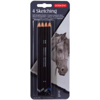 Derwent Sketch Pencil Set 4/Pkg-HB, 2B, 4B & 8B