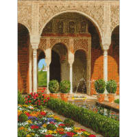 "RIOLIS Counted Cross Stitch Kit 11.75""X15.75""-The Palace Garden (14 Count)"