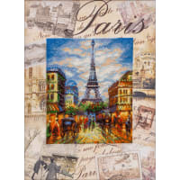 """RIOLIS Stamped Cross Stitch Kit 11.75""""X15.75""""-Cities Of The World: Paris (14 Count)"""