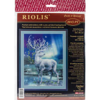 """RIOLIS Stamped Cross Stitch Kit 11.75""""X15.75""""-White Stag (14 Count)"""