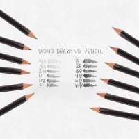 Professional Drawing Pencils 12/Pkg