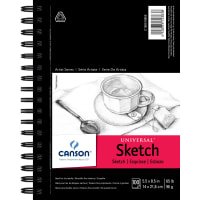 """Canson Universal Spiral Sketch Book 5.5""""X8.5""""-100 Sheets"""