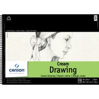 """Canson Classic Cream Spiral Drawing Book 18""""X24""""-24 Sheets"""