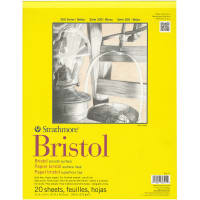 "Strathmore Bristol Smooth Paper Pad 11""X14""-20 Sheets"