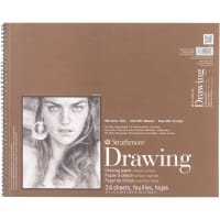 "Strathmore Medium Drawing Spiral Paper Pad 14""X17""-24 Sheets"