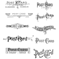 "Tim Holtz Cling Stamps 7""X8.5""-Postcards"