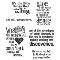 "Tim Holtz Cling Stamps 7""X8.5""-Good Thoughts"