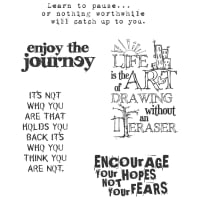 "Tim Holtz Cling Stamps 7""X8.5""-Just Thoughts"