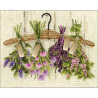 """RIOLIS Counted Cross Stitch Kit 11.75""""X9.5""""-Herbs (14 Count)"""
