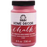 FolkArt Home Decor Chalk Paint 8oz-Pioneer Red