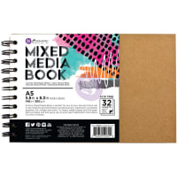 "Prima Mixed Media A5 Spiral Bound Kraft Book 5.8""X8.3""-W/32 Pages"