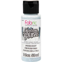 Fabric Creations Fantasy Glitter Fabric Paint 2oz-Meteor Shower