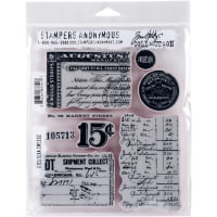 """Tim Holtz Cling Stamps 7""""X8.5""""-Etcetera"""
