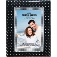 "MBI Photo Brag Book 4""X6""  -Black W/White Dots"
