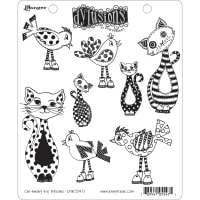 "Dyan Reaveley's Dylusions Cling Stamp Collections 8.5""X7""-Cat Among Pigeons"