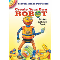 Dover Publications-CYO Robot Sticker Activity Book