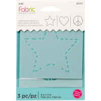 "Fabric Creations Adhesive Stencil 3""X3""-Star"