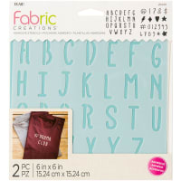 "Fabric Creations Adhesive Stencil 6""X6""-ABC"