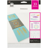 "FolkArt Stencil Value Pack 7""X10"" 3/Pkg-Bohemian"