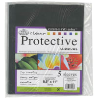 "Clear Protective Sleeves 5/Pkg-8.5""X11"""