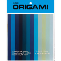 """Origami Paper 5.875""""X5.875"""" 48/Pkg-Shades Of Blue, 12 Colors"""