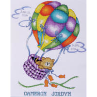 "Tobin Counted Cross Stitch Kit 11""X14""-Balloon Cat (18 Count)"