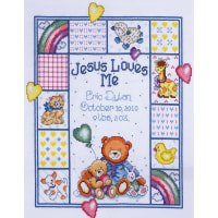 "Tobin Counted Cross Stitch Kit 11""X14""-Jesus Loves Me (14 Count)"