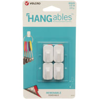 Velcro(R) Brand HANGables Removable Micro Hook 4/Pkg-White, Holds Up To .5lb