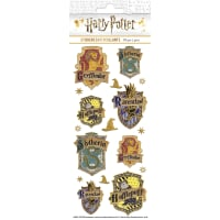 "Paper House Sticky Pix Faux Enamel Stickers 8""X3""-Harry Potter Crests"