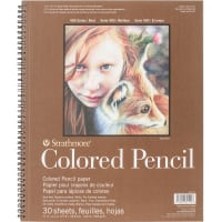 "Strathmore Colored Pencil Spiral Paper Pad 11""X14""-30 Sheets"