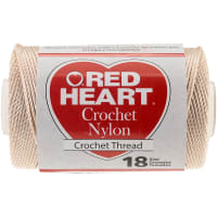 Red Heart Nylon Crochet Thread Size 18-Natural