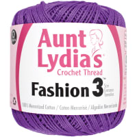 Aunt Lydia's Fashion Crochet Thread Size 3-Purple