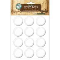 "Vintage Epoxy Dot Clear Stickers 1"" 12/Pkg-Round"